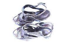 "Women's PAPRIKA size 6 Metallic Silver Strappy Gladiator 5"" High Heels"