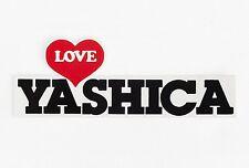 Adesivo Love Yashica Sticker - Vintage '80 - 15 x 5,5 cm