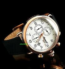 Ingersoll Men's Balfour Collection 18K Rose Gold IP Dual Time Luxury Watch