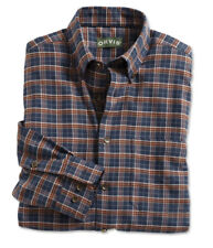 ORVIS Luxury Flannel Long Sleeve Men's Shirt BUTTON DOWN Navy Vicuna XLARGE $139