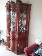 Italian reproduction display cabinet glass & wood