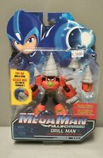MEGA MAN FULLY CHARGED DELUXE SERIES DRILL MAN SCHEMATICS ACTION FIGURE