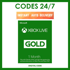 1 Month Xbox Live Gold Membership Code Xbox One / Xbox 360 - Instant Delivery