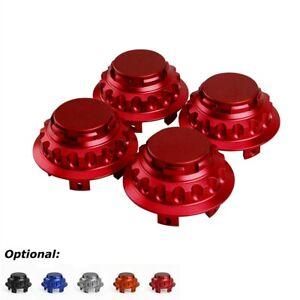 4PCS 76mm Aluminum Red Wheel Center Hub Caps Wheel Rim Hub Cover For Porsche