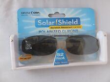 Solar Shield 52 Rec 4 Full Frame Polarized Clip-on Sunglasses Gray Lenses