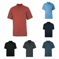 Men's Big Size Plain Cotton Blend Basic Polo Shirt Top Clothing Size 2XL to 8XL