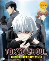 DVD Anime TOKYO GHOUL Season 1-3 (1-37 End) + 2 OVA +Live Movie English Sub/Dub*