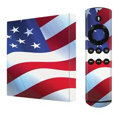 3M Decal Sticker Skin [Red Neon Flames] For Amazon Fire TV [2nd Gen] 2015