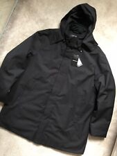 EMPORIO ARMANI BLACK TRENCH JACKET COAT OVER JACKET 6Z1L72 - 3XL 56 - NEW & TAGS