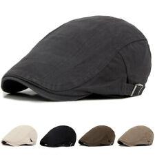 Coton Béret Rétro Chapeau Réglable Casquette Plate Unisex Pour Hommes Femmes