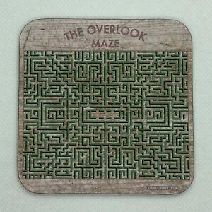 OVERLOOK MAZE - The Shining - Drinks Coaster / Bar Mat - Sturdy, Gloss, Original