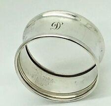 Birks Sterling Silver Napkin Ring Initial Monogram Letter D   Round 925