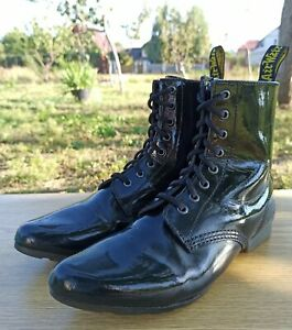 Dr Martens Women 7 UK 9 US Bianca Ritzy Boots Stacey 8 eye Black Patent Leather
