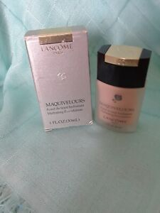 LANCOME MAQUIVELOURS HYDRATING FOUNDATION NIB, 1 FL.OZ. PORCELAINE D'IVOIRE COLO
