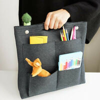 Felt Multi Pocket Insert Purse Organizer Cosmetic Makeup Bag Tote Handbag