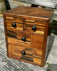 Antique Miniature Japanese Inlaid Cabinet with 4 Drawers  Meiji Period 5 5  tall