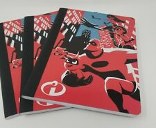Lot Of 3 Disney Pixar Incredibles 2 Composition Notebooks - NEW