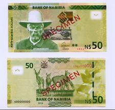 Specimen Set, Namibia, 50 Dollars, 2016, P-New, UNC