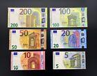 Replik Banknoten Euro Scheine 200 Euro 100 Euro 50 Euro 20 Euro 10 Euro 5 Euro <br/> Spielgeld, Pokergeld, Geldscheine zum Lernen