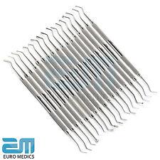 Dental Set Of 17 Amalgam Plastic Filling Instruments Restorative Filling Cavity