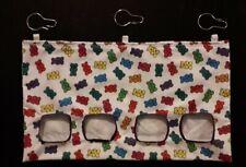 Fabric Hay feeder bag rainbow gummy bears XL - guinea pig, bunny