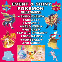 Pokemon Sword & Shield 6iv Shiny Pokemon of your choice Max EV - Fast Delivery!