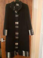 Infinitif - Ladies long wool blend coat - black - 12 (EU 42)