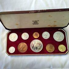 1953 UNITED KINGDOM CORONATION PROOF 10 COIN SET IN ROYAL MINT ORIGINAL BOX