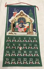 "Vintage Avon Advent Calendar 1987 ""Countdown To Christmas"" With Bear FREE SHIP"