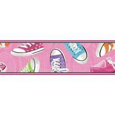 Colourful Sneaker Border Children's pre-pasted wallpaper border BS5365BD