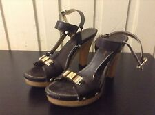 Baby Phat Strappy Sandals High Heels Gold Tan 8.5M 8 1/2M