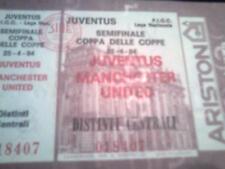 BIGLIETTI STADIO ANNI '70/'80 - JUVENTUS - MANCHESTER UNITED