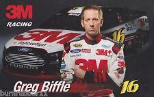 "2014 GREG BIFFLE ""3M"" #16 NASCAR SPRINT CUP SERIES POSTCARD"