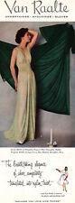 Van Raalte Pistachio Gown SAGE GREEN PEIGNOIR Breathtaking Elegance 1952 AD