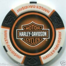 5 pc 5 colors HARLEY DAVIDSON PROFESSIONAL poker chip sample set #240 NEW DESIGN