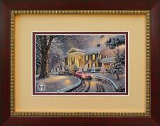 GRACELAND CHRISTMAS  Thomas Kinkade Framed Country Picture Art #04