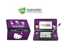 Hello Kitty Piel de vinilo adhesivo para Nintendo 3ds-Púrpura