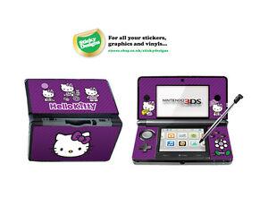 Hello Kitty Vinyl Skin Sticker for Nintendo 3DS - Purple