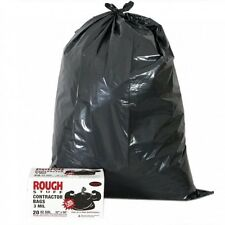 20 Pack Heavy Duty Contractor Plastic Garbage Trash Bags, 3 MIL, 42 Gallon,