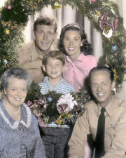 """CAST of THE ANDY GRIFFITH SHOW 1960s TELEVISION 8x10"""" HAND COLOR TINTED PHOTO"""