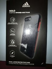 Adidas Solo iPhone iphone 6/6s/7plus Black/Red Dual Protection. Light Weight New