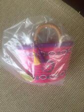 "American Girl Lea Clark tote basket bag frm Lea's beach picnic set 18"" doll NEW"