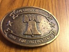 VINTAGE 1776-1976 LIBERTY BELL BICENTENNIAL BELT BUCKLE. #2/250