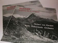 33CX 1586/7 Bruckner Symphony No.8 Berlin Philharmonic Orc / Von Karajan B/G 2LP