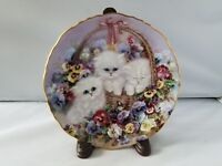 The Bradford Exchange Garden Gifts Series Collectible Plate Basket of Love Cats