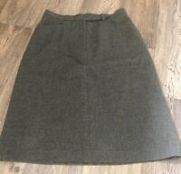 Jaeger Woman's Vintage 1980 Skirt Sz 10 98 % Virgin Wool Fully Lined