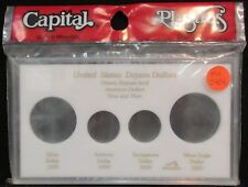 "CAPITAL PLASTICS: ""MA345E"" U.S. DEJAVU DOLLARS COIN DISPLAY W/FREE SHP."
