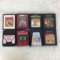 Lot Eight 8 Vintage Atari Games Berzerk Solaris Star Wars River Raid