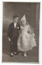 BP229 Carte Photo vintage card RPPC Enfant jeune fille déguisement princesse