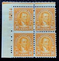 US Stamp SC #642 10c Gilbert Stuart  Plate Block 4 MH/OG